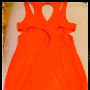 Orange Mod Dress Silence + Noise